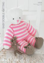 Hayfield Baby DK - 4464 Teddy & Mouse  Knitting Pattern